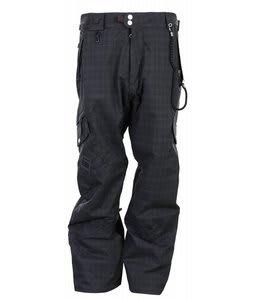 686 Smarty Index Snowboard Pants Black Plaid Mens
