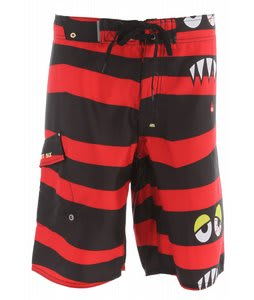 686 Snaggle-Stripe Boardshorts Black