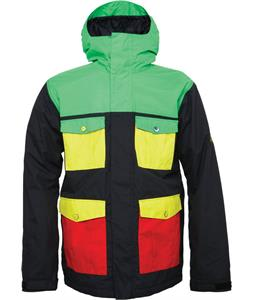 686 Snaggletooth Blvd Insulated Snowboard Jacket Rasta Colorblock