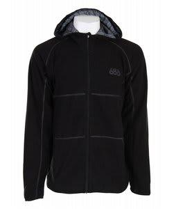 686 Stealth Zip Hooded Fleece Black Mens