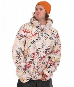 Burton Slub Snowboard Jacket Brt Wht Fruity Tiger