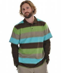Burton Waffle First Layer Polo Curacao Frat Stripe