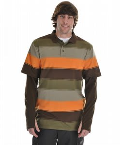 Burton Waffle First Layer Polo Haze Frat Stripe