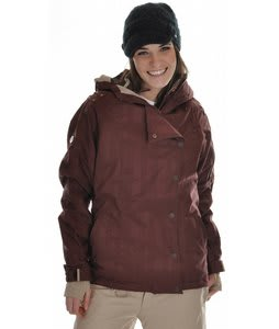 686 Smarty Rogue Snowboard Jacket Wine Stripe
