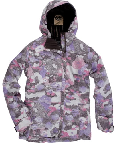 686 Acc Empire Insulated Snowboard Jacket Orchid Print