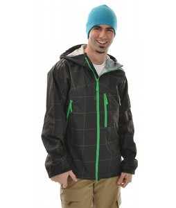 Burton Idiom Continuum 2.5L Snowboard Jacket Black Grid