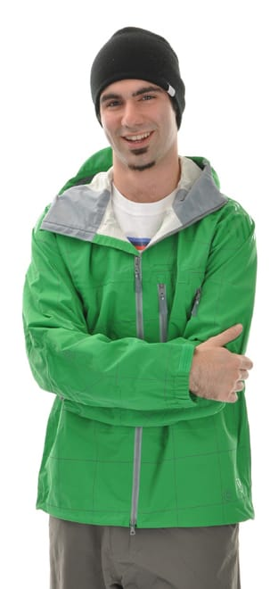 Shop for Burton Idiom Continuum 2.5L Snowboard Jacket Green Grid Print - Men's