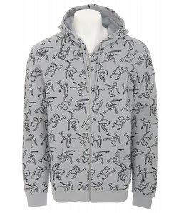 Airblaster Ninja Zip Hoodie Grey Mens