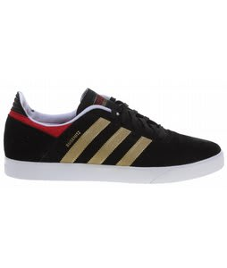 Adidas Busenitz Adv Skate Shoes Black/Metallic Gold/University Red