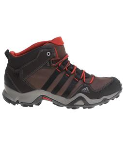 Adidas Bushwood Mid Leather Hiking Boots Espresso/Black/Titan Grey