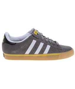 Adidas Campus Vulc Skate Shoes Mid Cinder/Running White/Vivid Yellow
