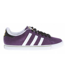 Adidas Campus Vulc Skate Shoes Dark Violet/White/Loam
