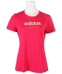 Adidas Edo Logo Linear T-Shirt Vivid Berry
