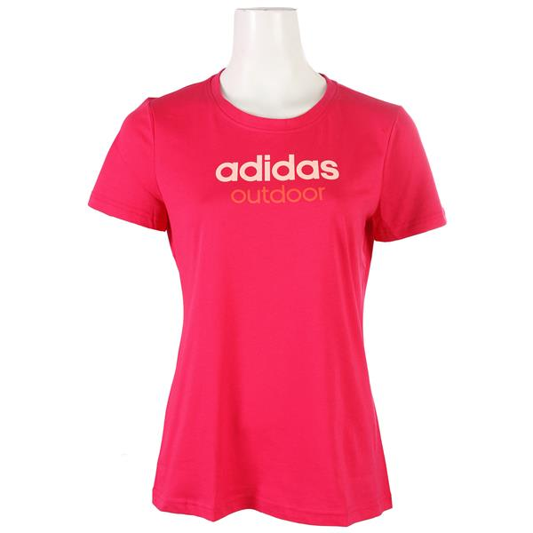 On Sale Adidas Edo Logo Linear T Shirt Womens Up To 55 Off