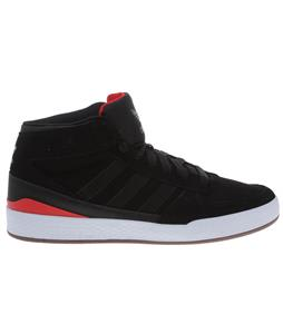 Adidas Forum X Skate BMX Shoes Black/Black/Vivid Red
