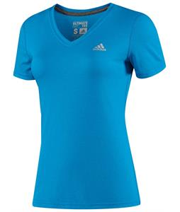 Adidas Ultimate Short Sleeve V-Neck T-Shirt Solar Blue