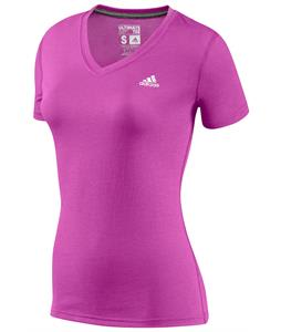 Adidas Ultimate Short Sleeve V-Neck T-Shirt Vivid Pink