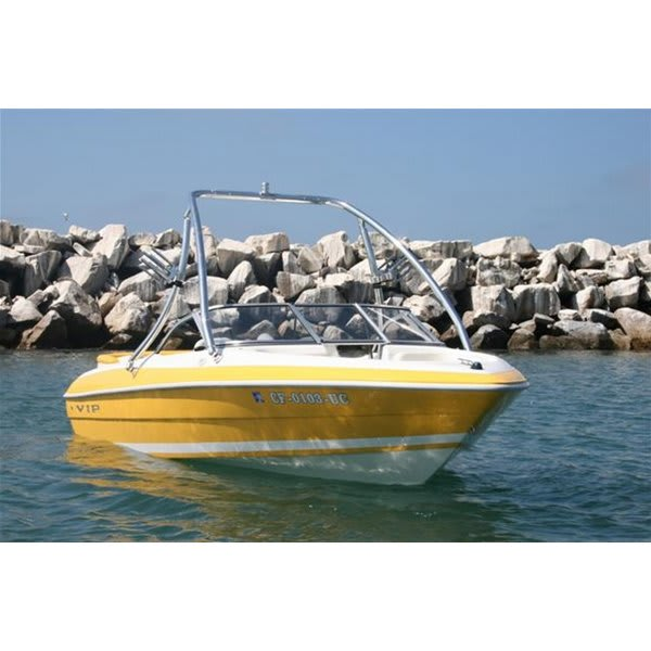 Aerial Assent Wakeboard Tower 2.25 Polished Aluminum