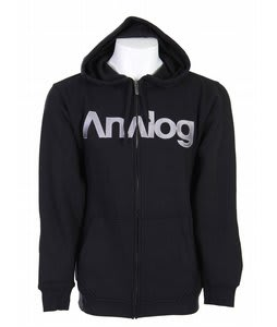 Analog Analogo Full Zip Hoodie True Black