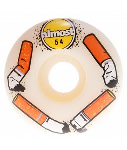 Almost Butts Standard Skateboard Wheels White/White 54mm
