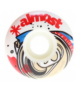 Almost Fruit Juice Skateboard Wheels White/Red 55mm