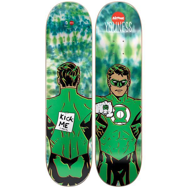 Almost Green Lantern Tie Dye Youness Skateboard Deck