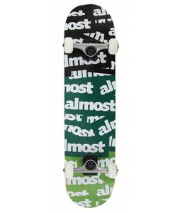 Almost Plastered TT Skateboard Complete Black/Teal/Green