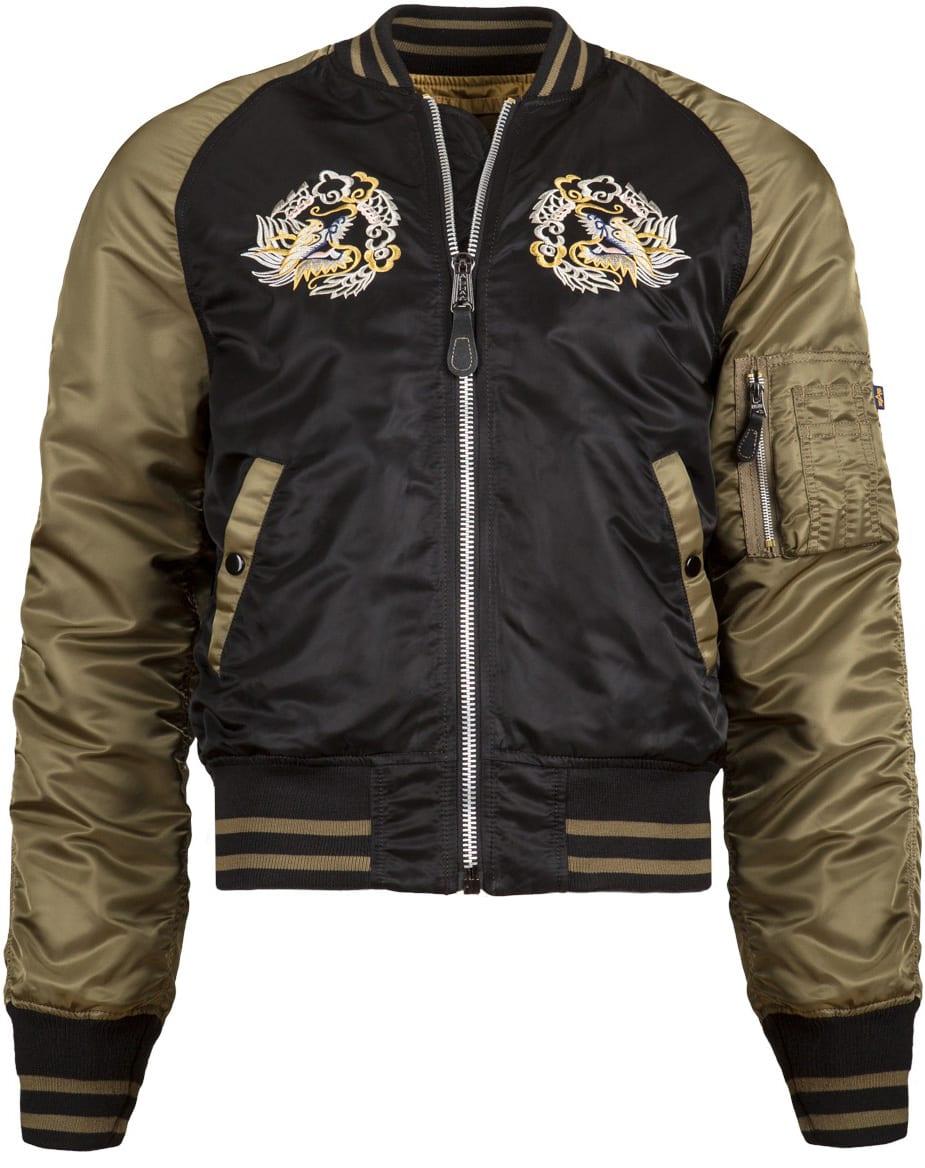 Alpha Industries Ma 1 Souvenir Eagle Flight Jacket
