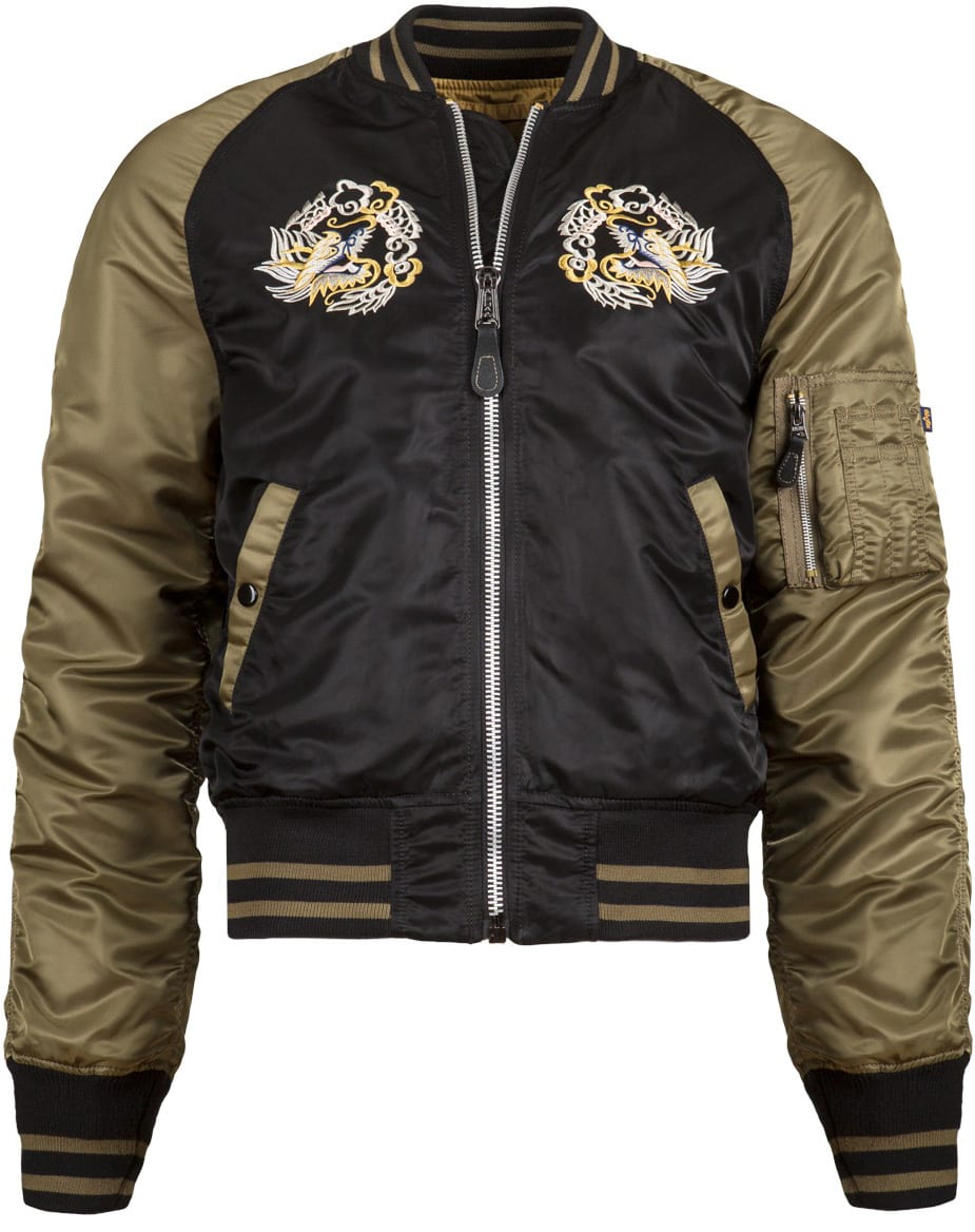 alpha industries ma 1 souvenir eagle flight jacket. Black Bedroom Furniture Sets. Home Design Ideas