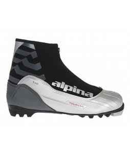Alpina T10 Crosscountry Ski Boots Silver/Black/Red