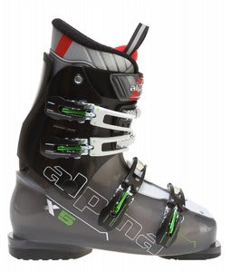 Alpina X5 Ski Boots Transparent Anthracite/Green