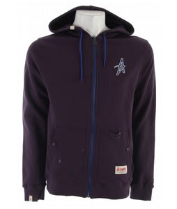Altamont Barrio Zip Hoodie Deep Purple