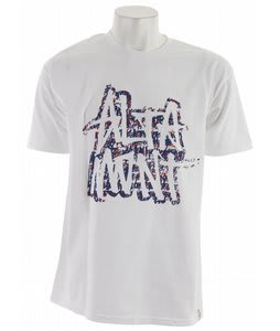 Altamont Unscribble T-Shirt White/Purple