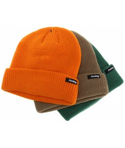 Analog 3 Pack Beanies Orange/Green/Brown