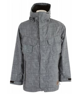 Analog Academy Snowboard Jacket Chambray Denim Print