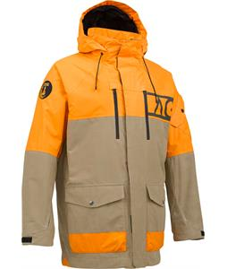 Analog Anthem Snowboard Jacket Tan/Safety Orange