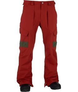 Analog Anthem Snowboard Pants Red Ochre/Green Moss