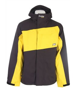 Analog Asset Snowboard Jacket True BlackYellog Mens