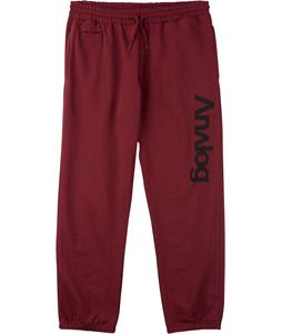 Analog Company Pants Burgundy