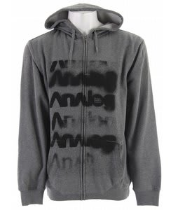 Analog Ditto Fullzip Hoodie Dark Athletic Heather