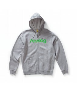 Analog Enterprise Fullzip Hoodie Heathered Grey
