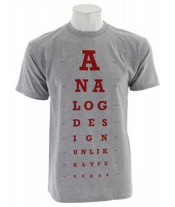 Analog Eye Chart T-Shirt Athletic Heather