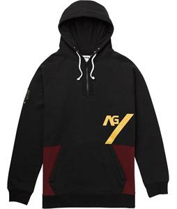 Analog Lawless Hoodie True Black/Burgundy