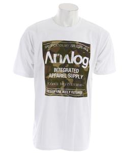 Analog Robbed Camo Block T-Shirt White