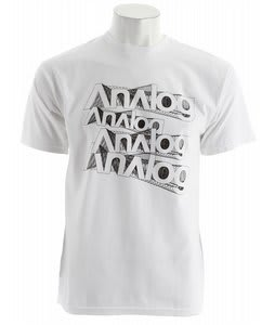 Analog Stacker Blender T-Shirt White