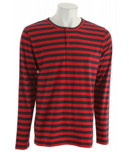 Analog Subject L/S Henley Shirt Crimson Red