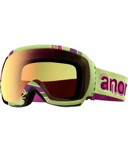 Anon Comrade Printed Goggles Pop/Green Solex Lens