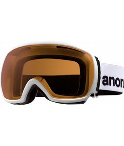 Anon Comrade Painted Goggles White/Silver Amber Lens