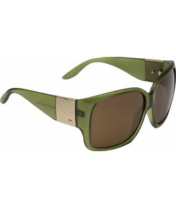 Anon Fashionably Late Sunglasses Green Crystal/Brown Lens