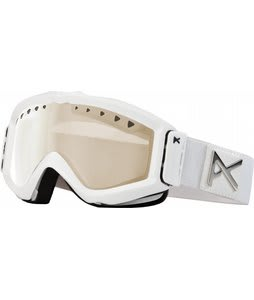 Anon Figment Painted Goggles White Emblem/Silver Amber Lens